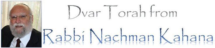 Chag Sameach from Rabbi Nachman Kahana   The WatchMen from Israel – Scripture Comments