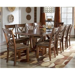 Signature Design By Ashley Waurika 11 Piece Extension Table Set