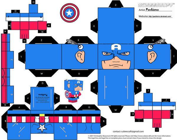 Captain America Cubee by Pankismo.deviantart.com on @deviantART