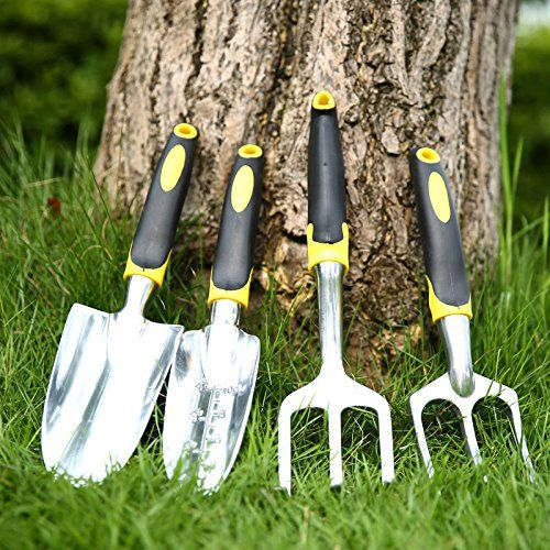 4Pcs Mini Plant Garden Hand Tools Set Rubber Handle Kids Plant Tool Rake Shovel TM79F32M UGBA453217 * You can find out more details at the link of the image.