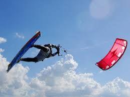Il kitesurfing nasce nelle Hawaii ed è un connubio fra il surf, da cui prende la tavola, e l'arte di volare grazie ad un aquilone (kite) che si manovra tramite una barra collegata con cavi