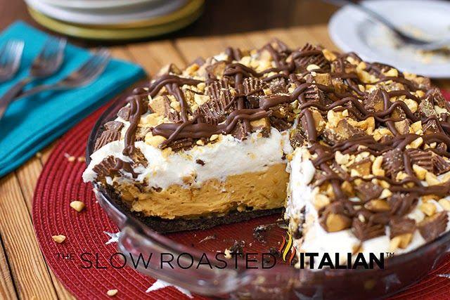 Extreme Reese's Peanut Butter Pie  Yep! Thanksgiving just got even better!