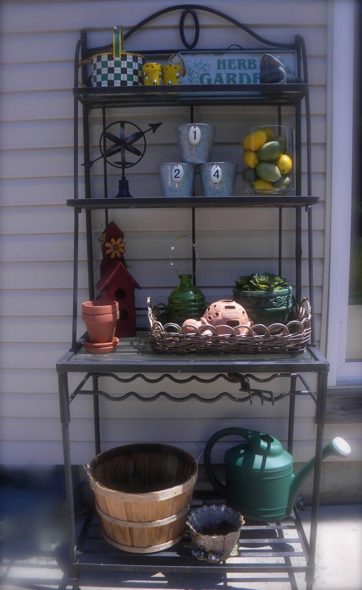 30 Best Outdoor Bakers Racks Images On Pinterest Porch