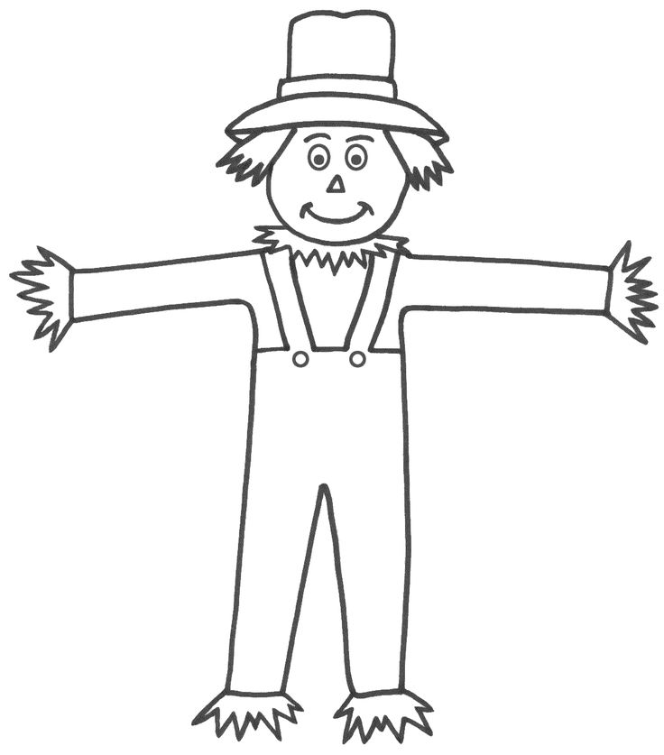 En Iyi 17 Fikir Scarecrow Coloring Pages Free Printable Pinterest