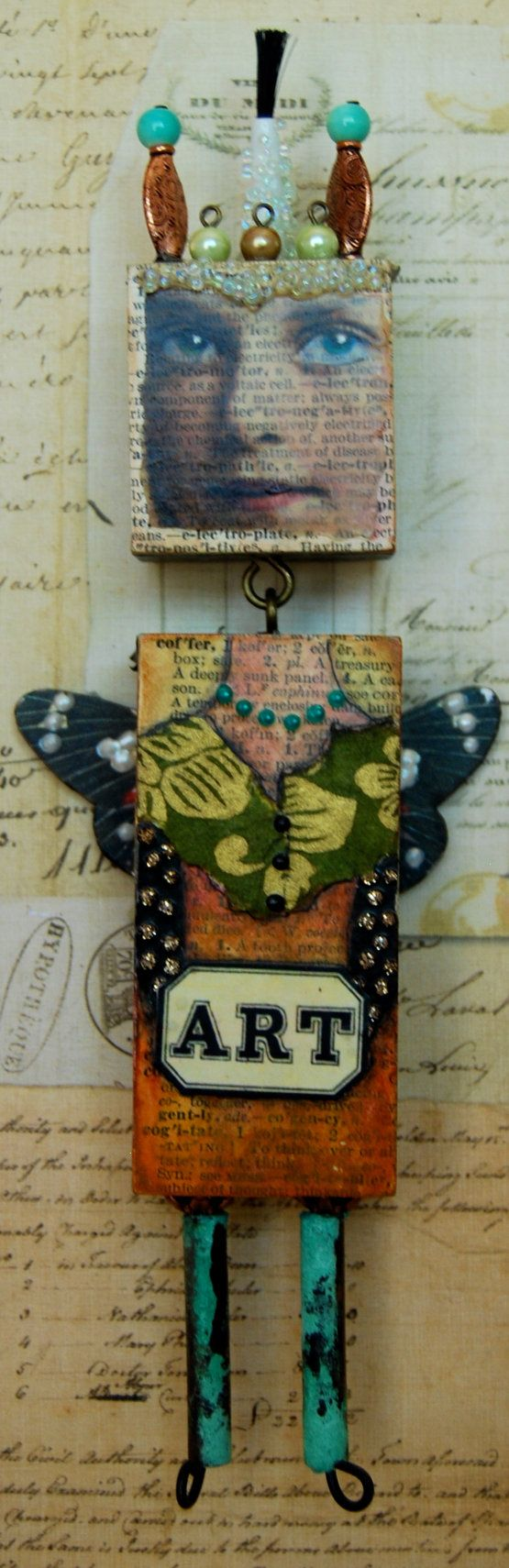 Altered Expression Art Doll  The Artist by desertdreamstudios, $65.00