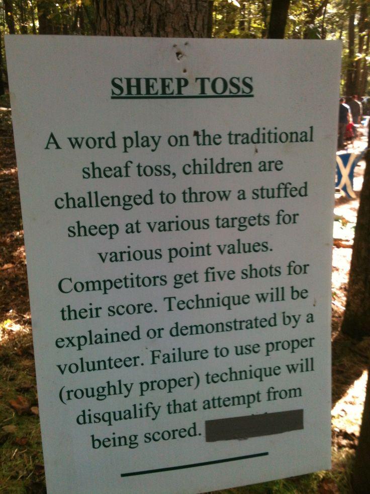 Kids' sheep toss - a twist on the sheaf toss