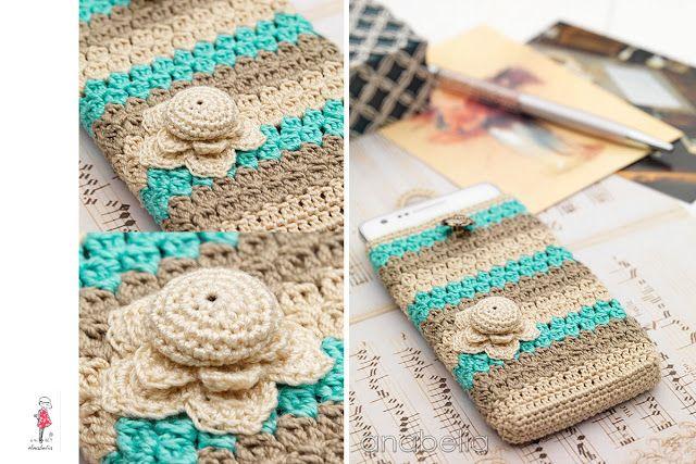 Smart phone crochet cover vintage crochet bolsos - Fundas para bolsos ...