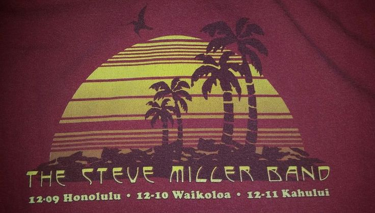 The Steve Miller Band Rare 2011 Hawaiian Tour Concert T-Shirt Size Medium  #ComfortColors #GraphicTee