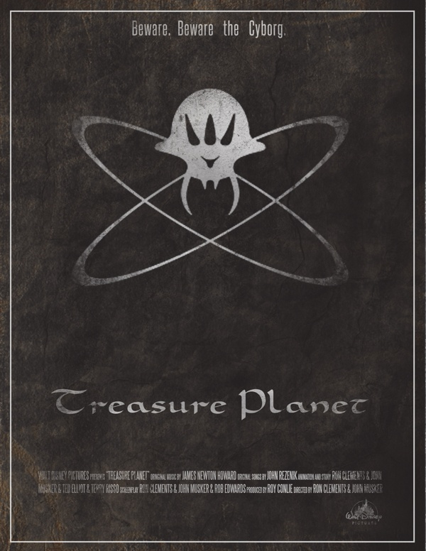 Treasure Planet Poster by Emily Akard, via Behance