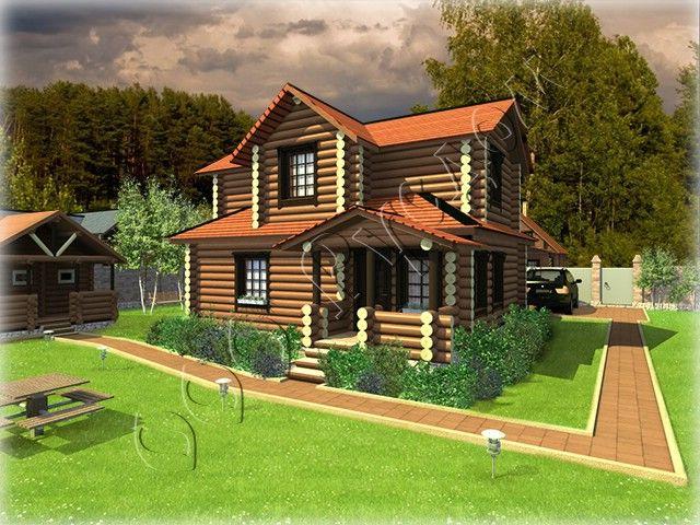 """Проект двухэтажного дома """"Слободка-2"""" разработан в классическом русском стиле Подробнее: http://www.rusdom.ru/projects-houses/large_village-2/"""