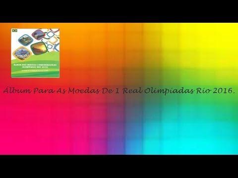 Álbum Para As Moedas De 1 Real Olimpíadas Rio 2016 e 4ª Série Olimpíadas...