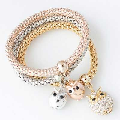 Set de pulseras encanto de buho Owl charm bracelet set  Caracteristicas Del Producto: - Item Type: Charm Bracelet - Gender: For Women - Chain Type: Po