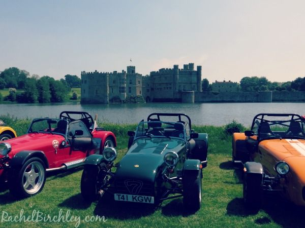 Leeds Castle Supercar Siege - Caterhams with the castle in the background