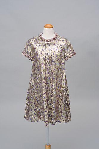 #Retro #Retro #Retro ... find more: http://shop.1960sfashion... ...1960s Gold Lame Mini Dress
