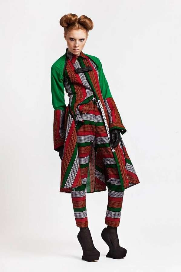 Edgy African-Inspired Fashion - The Chichia London AW13 Collection is Influenced by Communication