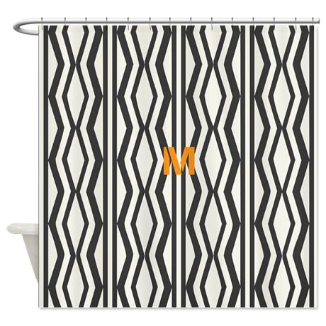 Cream And Black Shower Curtain Leopard Print Fabric Bath Shower