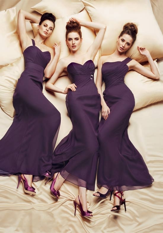 Dark Purple Sheath Bridesmaid Dress Long Strapless Dresses Pinterest And Wedding