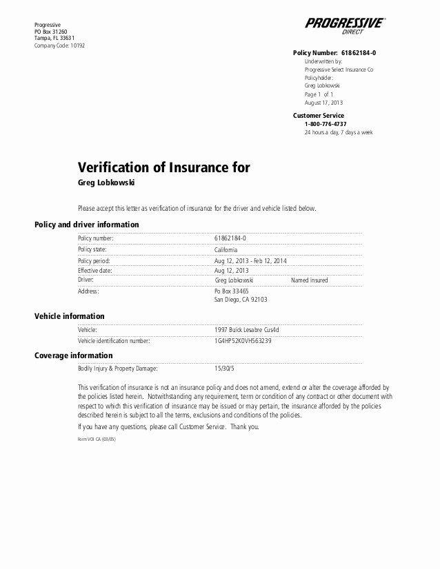 Progressive Insurance Card Template Fresh Full Coverage ...