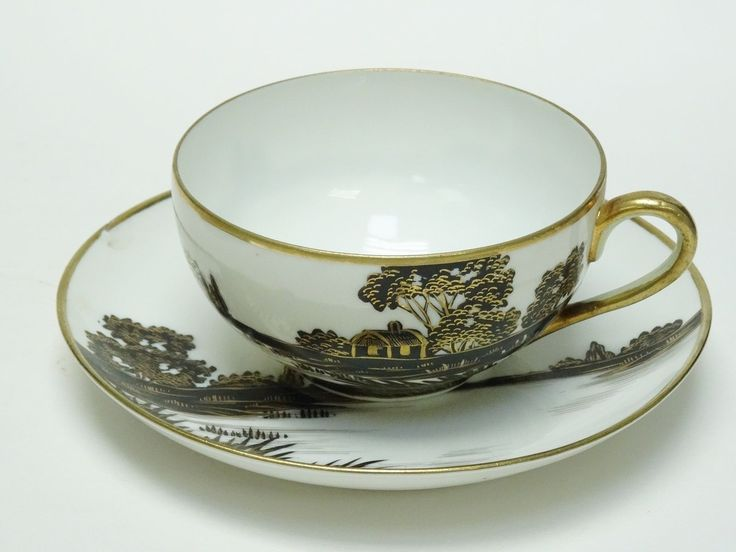 The 31 best nippon black white images on pinterest cutlery set of 2 elaborate antique c 1911 nippon noritake morimura teacup saucer ebay fandeluxe Image collections