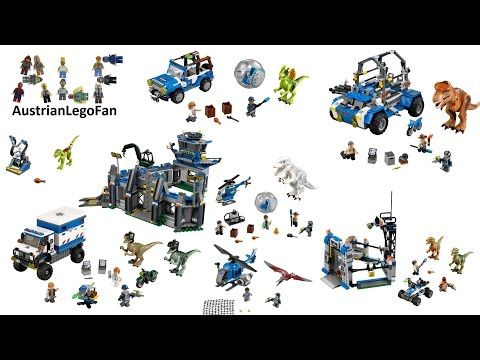All Lego Jurassic World Sets - Lego Speed Build Review - YouTube