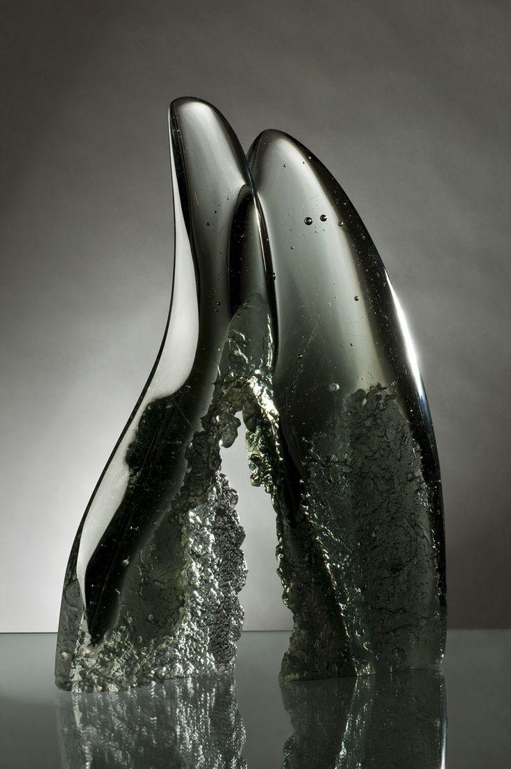 Cavern | Joseph Harrington, 2009; cast glass, lost ice process; 10.625 x 7.5 x 1.5 inches