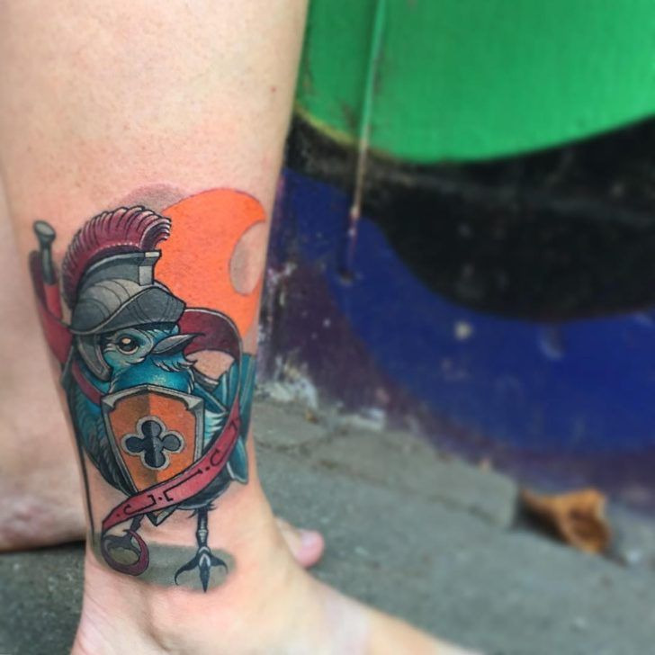 66 best images about ankle tattoos on pinterest inner for Birds on ankle tattoo