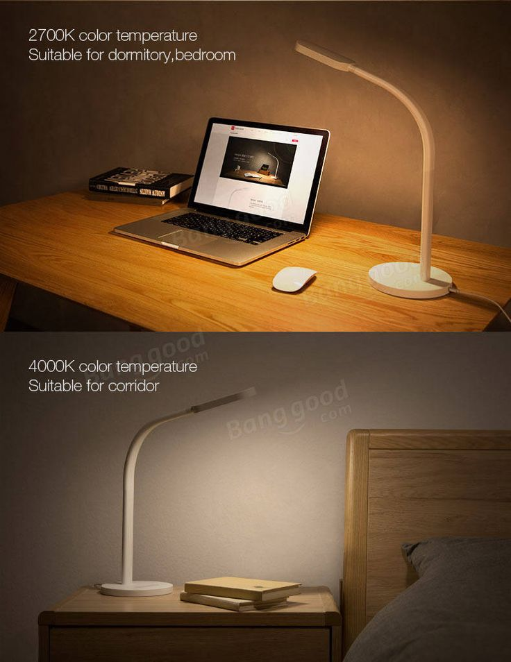 Original Xiaomi Yeelight 3W/ 5W 60 LED Touch Dimmable Desk Lamp Smart Table Light for Home