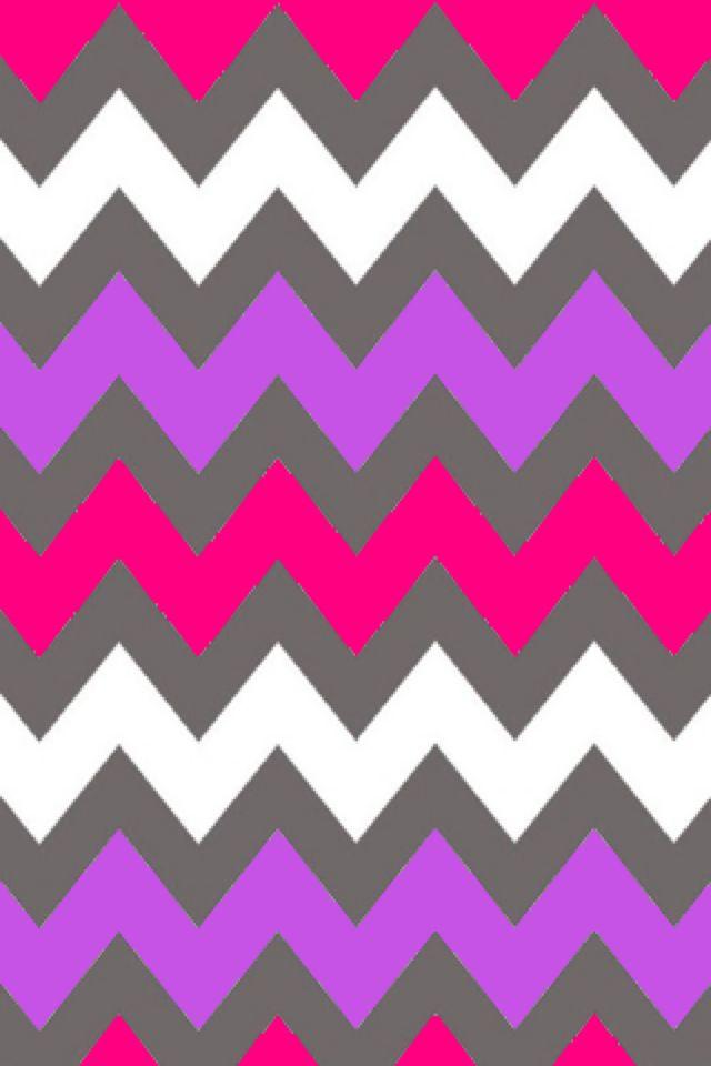 Gray, purple, pink, and white chevron wallpaper pattern Phone wallpaper background lock screen