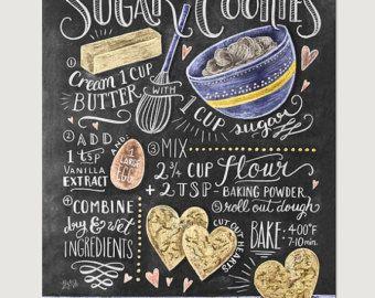 Küche Decor Küche Tafel Kunst Geschenk für die von LilyandVal