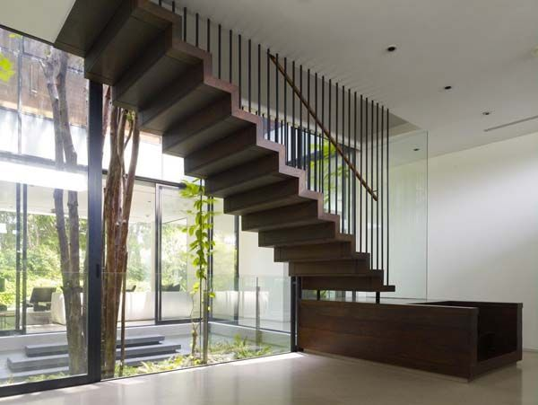 Idyllic Oceanfront Residence In An Exclusive Singaporean Community Staircase Design Stairs Design Interior Stairs