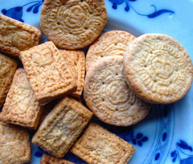 """Some Regency Biscuits"" from ""Food History Jottings"" - In this blogpost, food historian Ivan Day discusses how biscuits (cookies on this side of the pond :P) were a common item in the dessert course of a Regency-era dinner. It was also common to mold and decorate the biscuits using stamps; Day also shows some of his favourites from his vast collection of historical cooking implements."
