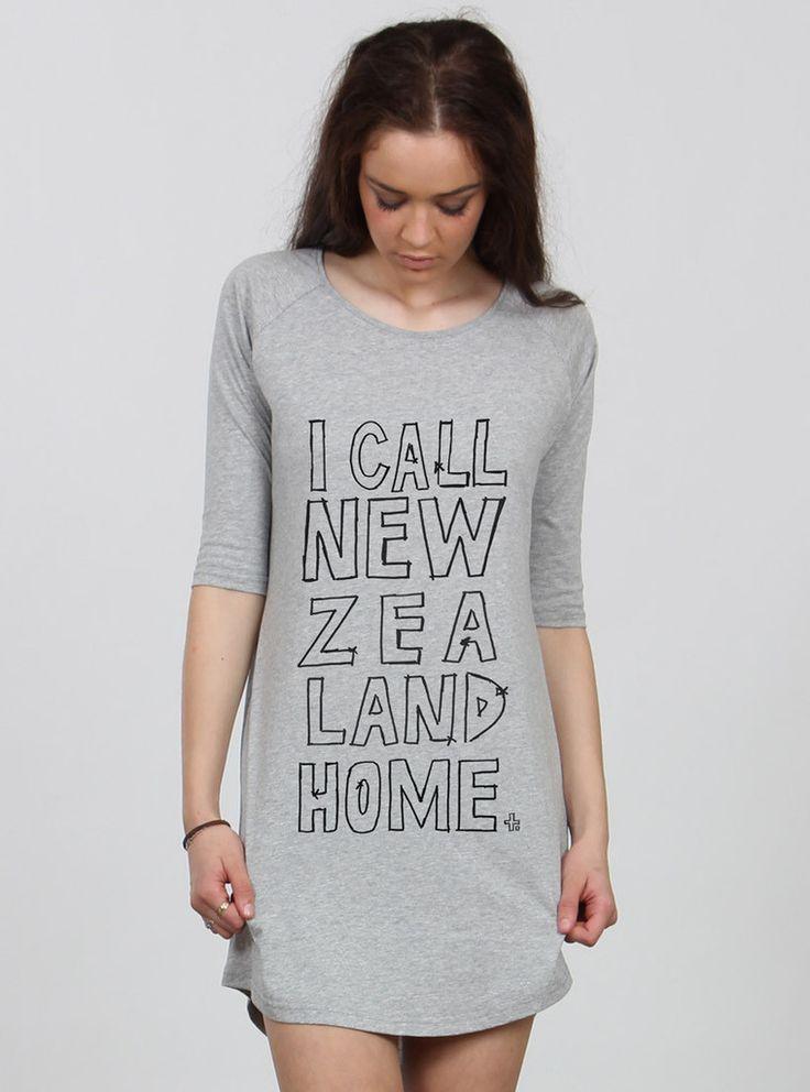 BASE DRESS I CALL NZ HOME GREY / BLACK