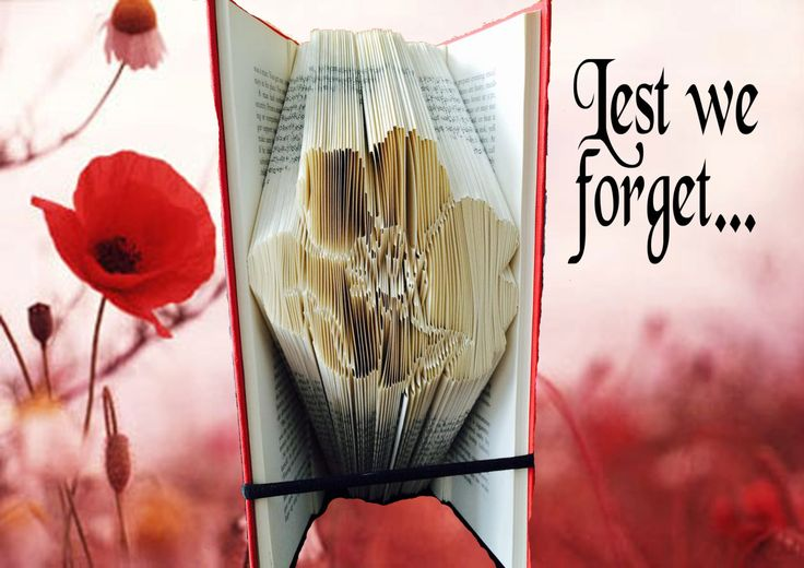 Poppy book folding pattern - 591 pg - Remembrance Day, Royal British Legion - FREE beginners tutorial pack and donation to Poppy Appeal! by QuirkyCraftsUK on Etsy
