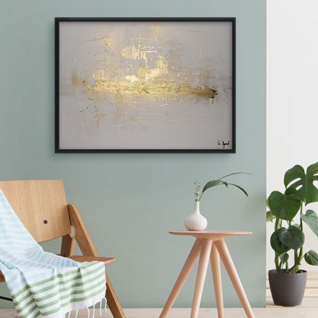 Gold on White 1 Canvas
