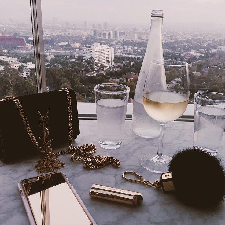 YSL & White Wine via Pinterest / jesssshing