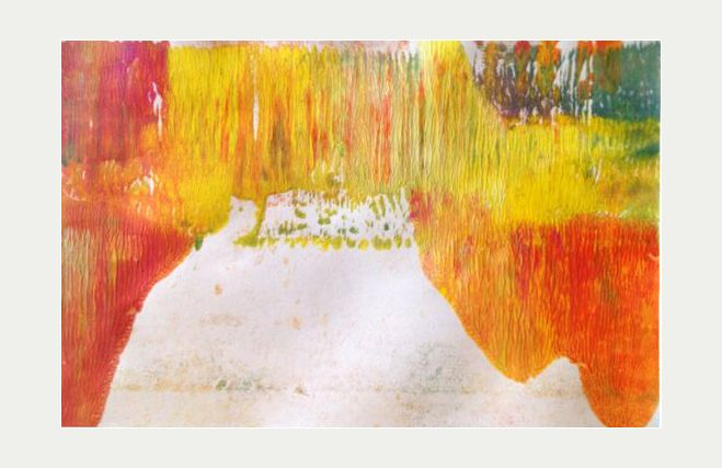 by Marlene Bjerregaard monoprint acylic