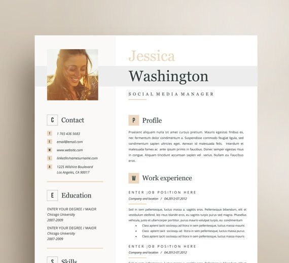 57 best Creative and professional Resume Templates images on - sample resume microsoft word