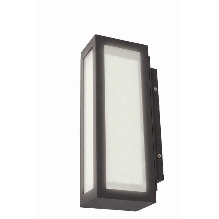 Brilliant 240V 15W Charcoal Oakford Wall LED Light