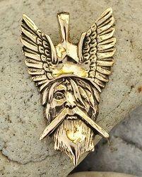 Odyn - bóg nordycki. Wisior z brązu. • Onegdaj