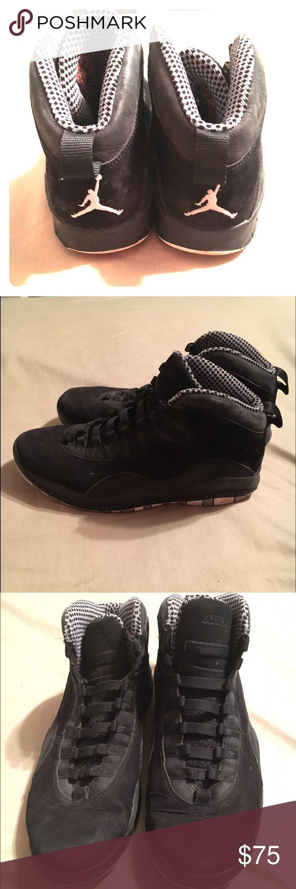 Authentic Jordan Retro 10's All black Retro 10's, good condition. No laces, fit tight. Jordan Shoes Sneakers
