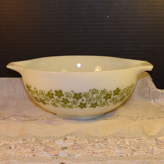Pyrex Mixing Bowl Spring Blossom Crazy by ShellysSelectSalvage