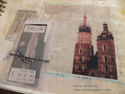 Art Journaling Prompt: Memorabilia. Art journal by Sara Naumann. www.saranaumann.com  Sara Naumann Blog | Sara Naumann: Studio SN