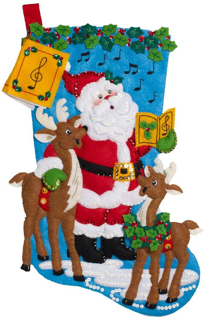 """Caroling Santa"" Bucilla stocking kit, released in May of 2016. MerryStockings has it in stock."