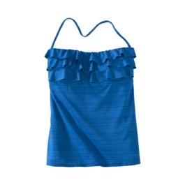 Mossimo® Womens Tankini Swim Top w/ Ruffles -Blue