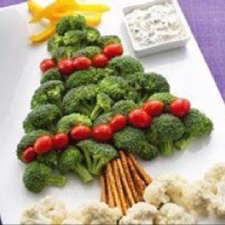 Christmas vegetable snack