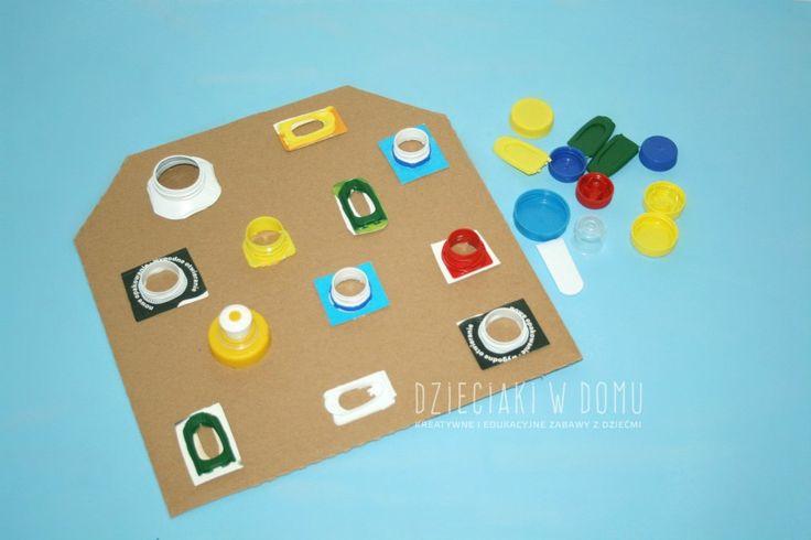 tablica z nakrętek - kreatywna zabawa