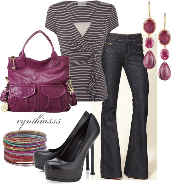 Cute Wrap Top, created by cynthia335 on Polyvore