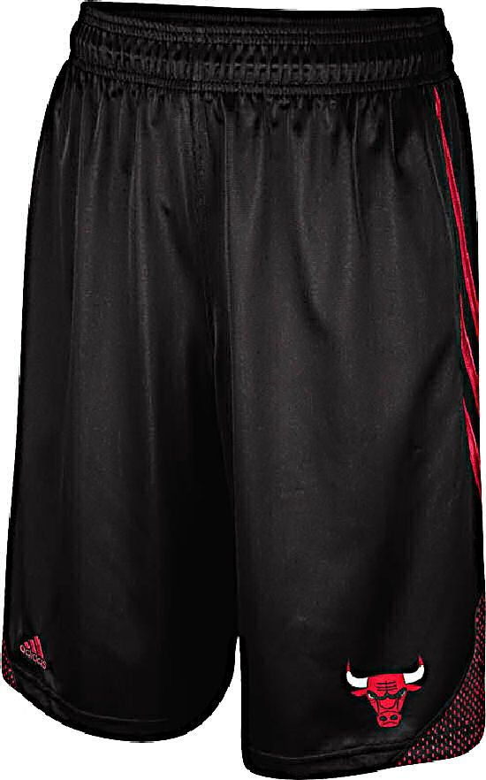 Chicago Bulls Black Embroidered 12 inch Inseam Hoop Shorts by Adidas $34.95