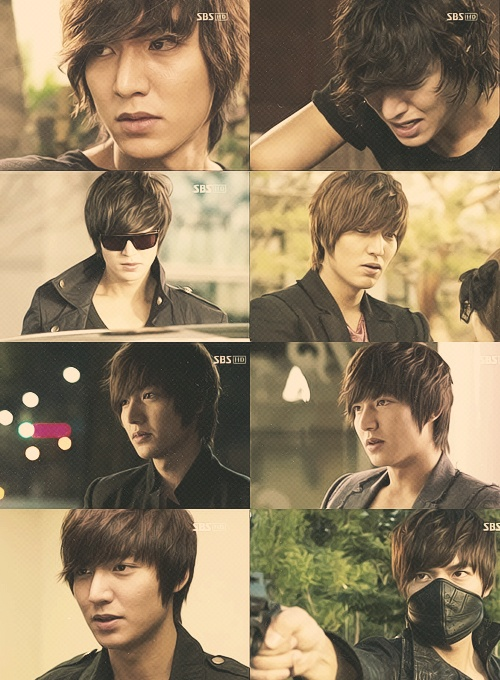 City Hunter's Lee Min Ho with various facial expressions.