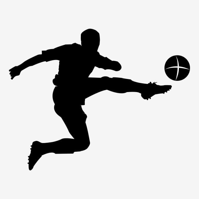 Jumping Shot Soccer Silhouette Soccer Clipart Jump Shot Png And Vector With Transparent Background For Free Download In 2021 Soccer Silhouette Football Silhouette Silhouette People